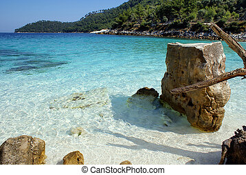 Beautiful beach on Thassos island, Greece