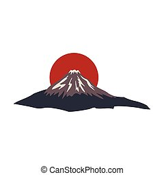 The sacred mountain of Fuji, Japan icon