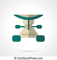 Longboard part flat color vector icon - Green color...