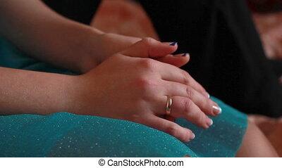 Girl's hands, girl is gesturing
