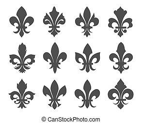 Fleur de lis vector icons