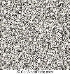 Floral ornament seamless pattern
