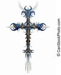 Fantasy Cross  - 3D Render of an Fantasy Cross