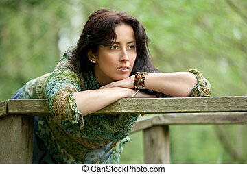 beautiful pensive woman