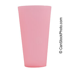 large pink reusable plastic cup