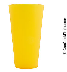 large yellow reusable cup