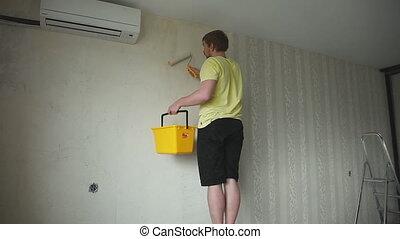 Repair, wallpapering