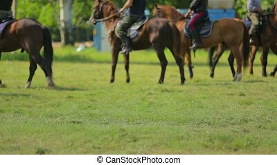 Russian Cossacks Rehearsing Equestrian Forming - This is a...