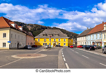Town of Bad sankt Leonhard im Lavanttal colorful...