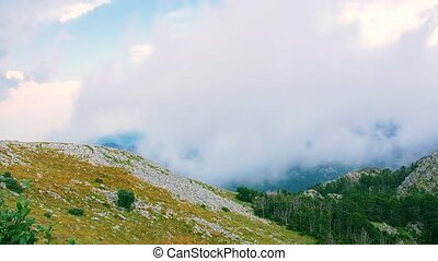 Mountain cloudy weather - Cloudy weather view of the highest...
