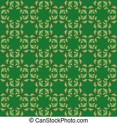 Abstract leaves geometric seamless texture. - Vector...