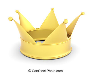 Crown - 3D rendered Illustration. Isolated on white.