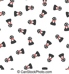 Spotted Spy Flat Vector Seamless Pattern - Spotted Spy...