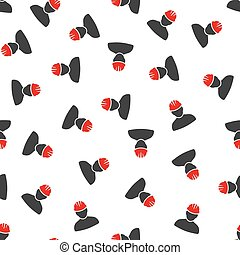Worker Person Flat Vector Seamless Pattern - Worker Person...