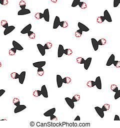 Person in Hardhat Flat Raster Seamless Pattern - Person in...
