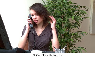 Pretty woman talking on phone