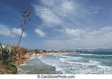 Golden Beach, Paros, Greece - The Golden Beach is a well...