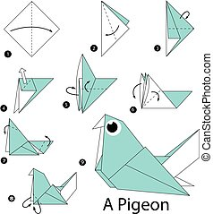 origami a Pigeon. - step by step instructions how to make...