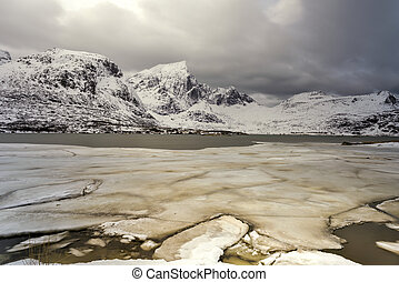 Flakstadoya - Lofoten Islands, Norway - Flakstadoya in the...
