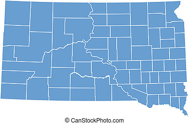Vector map South Dakota