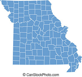 Vector map Missouri