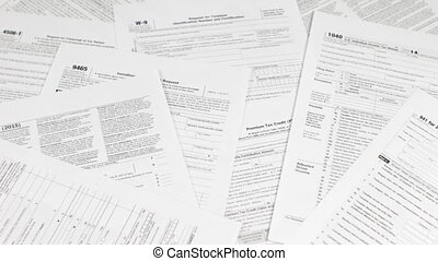 Dollars Thrown on Tax Forms - Dollars thrown on tax forms