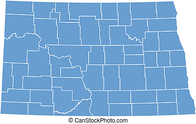 Vector map North Dakota