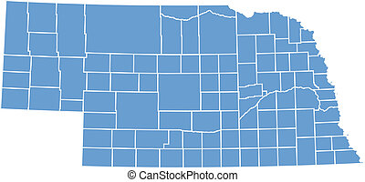 Vector map Nebraska