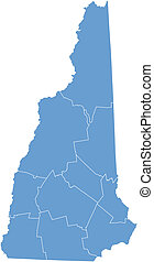 Vector map New Hampshire