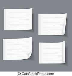 Lined Sticky Papers - Lined sticky notes set, blank lined...