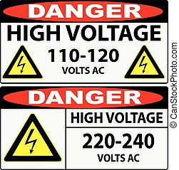 High voltage Danger - Options for preventing high voltage...