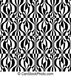 Abstract Wave and Square Pattern