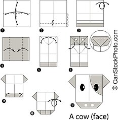 origami a cow.