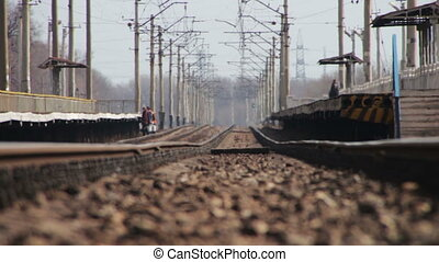 Rails for Rail Road Trains and Mirage - Rails and railway on...