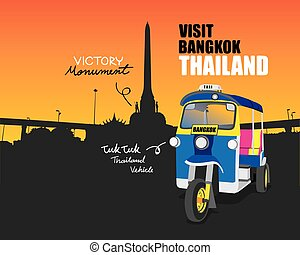 Tuk tuk vehicle on Bangkok Thailand