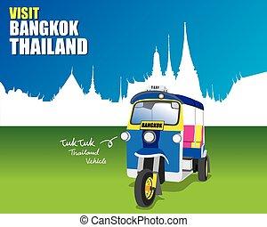 Tuk tuk vehicle on Bangkok Thailand
