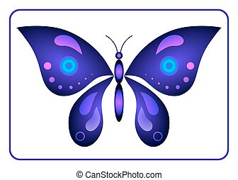 Butterfly beauty colorful sign neon 1