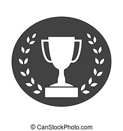 Trophy cup with Laurel wreath icon 2