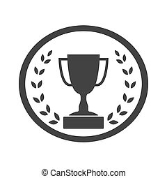 Trophy cup with Laurel wreath icon 4