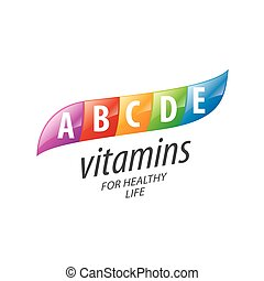 vector logo vitamins - abstract vector template logo...