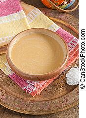 Tibetan Yak Butter Tea - Tibetan yak butter tea or po cha a...