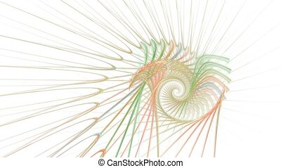 Sharp colours With alpha channel - HD abstract fractal art...