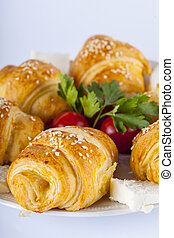 Traditional Turkish dishes - Morning breakfast and pastries