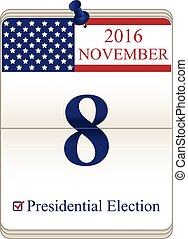 Calendar of Presidential Election - Vector of United States...