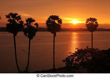 ASIA SOUTHEASTASIA LAOS KHAMMUAN REGION - a landscape of the...