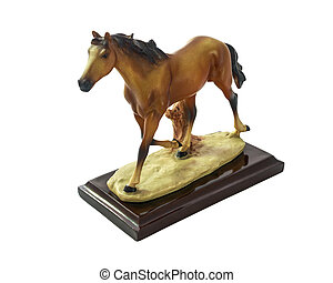 Horse runs. - Horse runs, Horse souvenir made of resin...