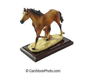 Horse runs. - Horse runs, Horse souvenir made of resin...