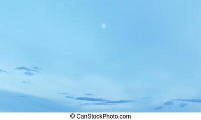 blue time lapse sky nature landscape moon - blue time lapse...