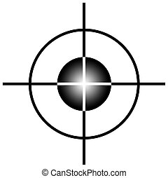Sniper target scope or sight, isolated on white background