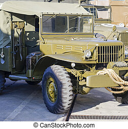 detail of a military truck in italy
